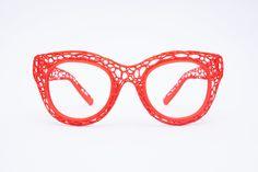 printed eyewear made in Cambridge, UK. Eyewear, 3d Printing, Glasses, Model, Prints, Fashion, Impression 3d, Moda, Eyeglasses