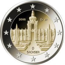 Detailed image and information about 2 euro coin Sachsen: Dresdner Zwinger from Germany issued in The coin is part of series Commemorative 2 euro coins. Visit the best collector and commemorative coin website: The Collector Coins. Euro Währung, Piece Euro, Canadian Coins, Euro Coins, Foreign Coins, Coins Worth Money, Rare Stamps, Coin Worth, Commemorative Coins