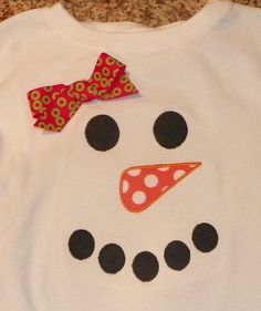 Items similar to Snowman Applique Shirt on Etsy