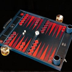 Marine Leather Challenge Backgammon Set by Geoffrey Parker : MONC XIII