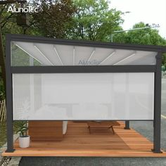 Outdoor Wind Resistance Waterproof Aluminium PVC Retractable Awning Roof with LED - Buy PVC Pergola, Aluminum Pergola, Vinyl Pergola, Retractable Pergola, Pergola Curtains, Wooden Pergola, Pergola Attached To House, Pergola With Roof, Outdoor Pergola, Pergola Lighting