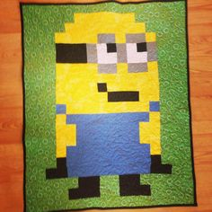 I made this Minion quilt for Zach as a weekend project
