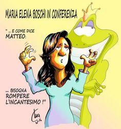 ITALIAN COMICS - Matteo Renzi: spezziamo l'incantesimo, arriva l'età dell'oro… testo:R.Garofalo, vignetta M.Airaghi
