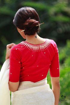 20 Latest Saree Blouse Designs for Stylish Look - ArtsyCraftsyDad Choli Designs, Saree Jacket Designs, Sari Blouse Designs, Fancy Blouse Designs, Blouse Patterns, Latest Saree Blouse, Kerala Saree Blouse, High Neck Saree Blouse, Sari Bluse
