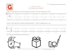 Looking for a Worksheets For Letter G. We have Worksheets For Letter G and the other about Benderos Printable Math it free. Letter Tracing Worksheets, Printable Math Worksheets, Handwriting Worksheets, Tracing Letters, Uppercase And Lowercase Letters, Worksheets For Kids, Handwriting Practice, Letter G Crafts, Printing Practice