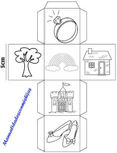 If your child loves telling and writing stories use these free printable story cubes to inspire creativity and get your stories started. Story Cubes, English Activities, Interactive Activities, Free Stories, Stories For Kids, Story Dice, Teaching Social Skills, Pattern Coloring Pages, English Fun