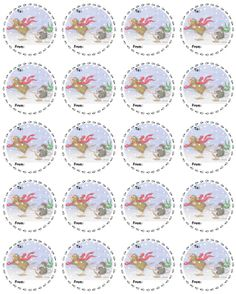 """1 Sheet of 20 To/From Stickers"", Stock #: TF-C212, from House-Mouse Designs®. This item was recently purchased off from our web site. Click on the image to see more information."