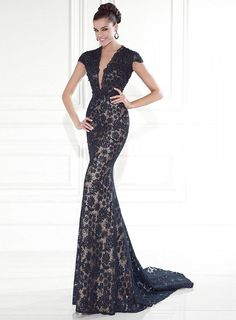 ihomecoming.com SUPPLIES Fantastic Floor-Length V Neck Cap Sleeves Lace  Evening Dress Sexy 5fbb4d7032b7