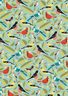Birds Wrapping Paper (Paper Source) + coordinating gifts and stationery.