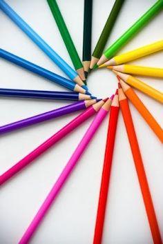 rainbow pencil circle