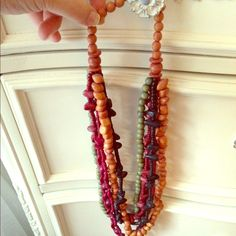 Multi Layer Chunky Long Necklace!