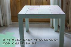 milowcostblog: diy: mesa lack con chalk paint de I DO PROYECT
