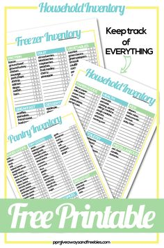 Household Inventory Tracker- Free Printables Household Inventory Tracker- Free Printables make grocery shopping so much easier. Know what you have in your inventory and visualize [. Life Planner, Happy Planner, Family Planner, College Planner, College Tips, Weekly Planner, Printable Planner, Free Printables, Free Organizing Printables