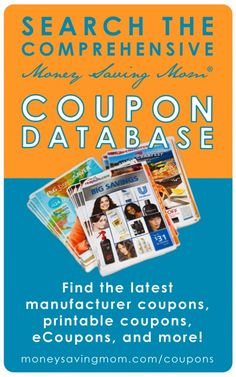 Coupons are a great way to save a lot of money on your grocery bill, but they can be hard to keep up with. Don't despair! The Money Saving Mom® Coupon Database is here to help you use coupons even if you don't want to mess with buying the newspaper, clipping the coupons, and keeping them all organized.