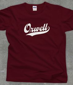 George Orwell literary tshirt unisex women's men's by TeeRiot, $14.95 #literature