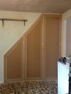 Fitted shelving, cupboards and flooring - p d carpentry & building cambridge Bedroom Built In Wardrobe, Wardrobe Doors, Under Stairs Cupboard, Diy Cupboard Doors, Mdf Doors, Built In Cabinets, Cupboards, Hall Furniture, Stair Storage