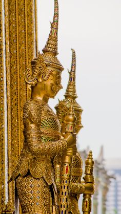 Temple Guards, Bangkok, Thailand
