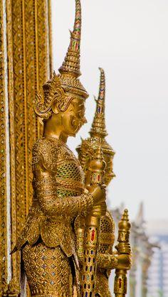 Temple Guards, Bangkok, Thailand