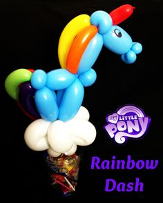 My Little Pony 'Rainbow Dash' Balloon Candy Cup #MyLittlePony