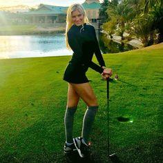 Golf Swing Tips for the Female Players Girls Golf, Ladies Golf, Women Golf, Mens Golf Fashion, Sexy Golf, Perfect Golf, Golf Humor, Sporty Girls, Golf Accessories