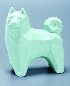 Kosen, Sake Flask in the Form of an Akita Dog, 1930s.