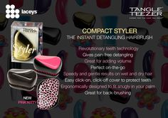 COMPACT STYLER   Tangle Teezer is at Laceys Hair and Beauty Supplies!  https://www.facebook.com/LaceysTeam