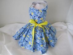Dog Dress  XS  Blue daisies   Mommies Choice by NinasCoutureCloset, $15.00