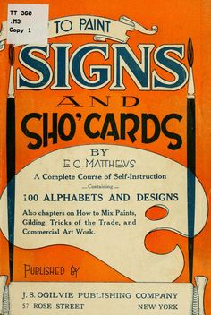 How to paint signs and sho' cards
