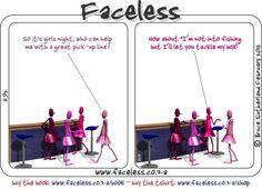 Faceless Comics: So it is girls night