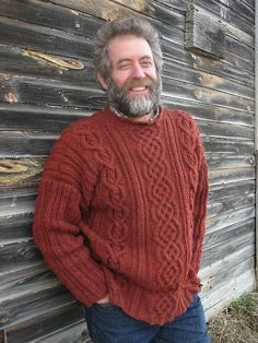Ravelry: Mango's Yes, he asked for Orange Quick Knitting Projects, Beginner Knitting Patterns, Knitting Designs, Sweater Outfits, Men Sweater, Aran Sweaters, Men's Knitwear, Men Stuff, Orange