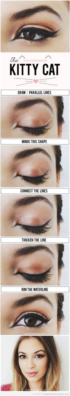 De nuevo, las chicas de The Beauty Department nos vuelven a sorprender con una vuelta de tuerca a un maquillaje de ojos muy habitual: el de realizar la línea del ojo con rabillo con efecto de ojo d…
