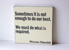 "Winston Churchill quote distressed sign, typography art, 12"" x 12"" distressed sign. $38.00, via Etsy."