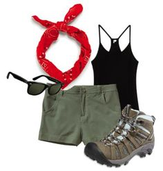 Ideas Summer Camping Outfits For Women Hiking Fashion Camping Outfits For Women Summer, Summer Camping Outfits, Summer Outfits, Camping Clothes For Women, Camp Outfits, Womens Hiking Outfits, Camping Clothing, Summer Clothes, Checklist Camping