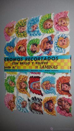 CROMOS RECORTADOS CON BRILLO Y RELIEVE 12 LAMINAS EDITORIAL VASCOAMERICANA - Foto 1