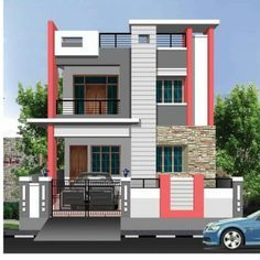 House outside design simple small house exterior look and interior design i House Outer Design, House Outside Design, House Front Design, Small House Design, Modern House Design, Modern Exterior House Designs, Bungalow Exterior, Door Design, Wall Design