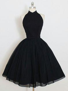 Black homecoming dress, little black dress, short prom dress, halter homecoming dress, Black Prom Dresses, Grad Dresses, Pretty Dresses, Homecoming Dresses, Beautiful Dresses, Evening Dresses, Formal Dresses, Sleeveless Dresses, Elegant Dresses
