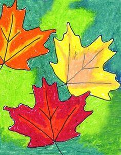 Fall Art Lesson- Warm Colors, Cool Colors & Contour Line