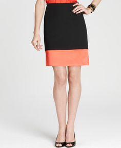 Love this colorblock skirt