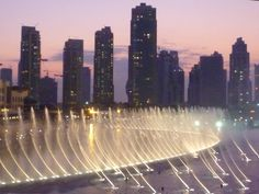 this was the most beautiful fountain show. must return to Dubai in 2050 to check out the expansion!