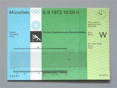 Otl Aicher 1972 Munich Olympics - Tickets