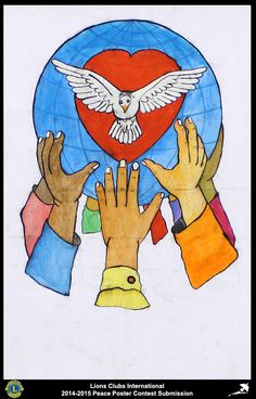 2014-15 Lions Clubs International Peace Poster Competition submission from Cotonou Concorde Lions Club in Rep of Benin