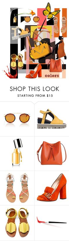 """""""colors"""" by fl4u ❤ liked on Polyvore featuring Krewe, Strategia, Clinique, Lodis, Gucci and TRACEY NEULS"""
