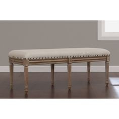 Elements Upholstered Dining Bench | Overstock.com Shopping - The Best Deals on Dining Chairs