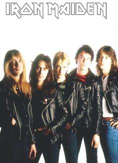 Iron Maiden with original vocalist Paul DiAnno