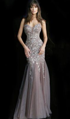 Jovani - 62587 embroidered deep sweetheart trumpet dress by Jovani Wedding Dresses, Elegant Wedding Gowns, Jovani Dresses, Classic Wedding Dress, Cheap Wedding Dress, Elegant Dresses, Formal Dresses, Short Dresses, Mermaid Evening Dresses