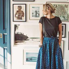 calico skirt and tee ///