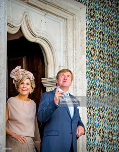 King Willem-Alexander of The Netherlands and Queen Maxima of The Netherlands visit visit Palacio da Vila on October 12, 2017 in Sintra, Portugal.
