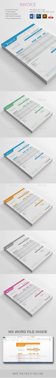 Invoice Template PSD, Vector EPS, AI, MS Word Download here - invoice template download word