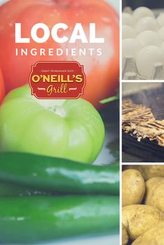 Local ingredients are used in our food at O'Neill's Grill in Harrisonburg, VA. Close to JMU! Check out our menu at oneillsgrill.com!