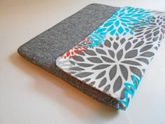 iPad Cover, iPad Case, Padded iPad case - Blooms - Custom sizing for other Tablets or NetBooks is available